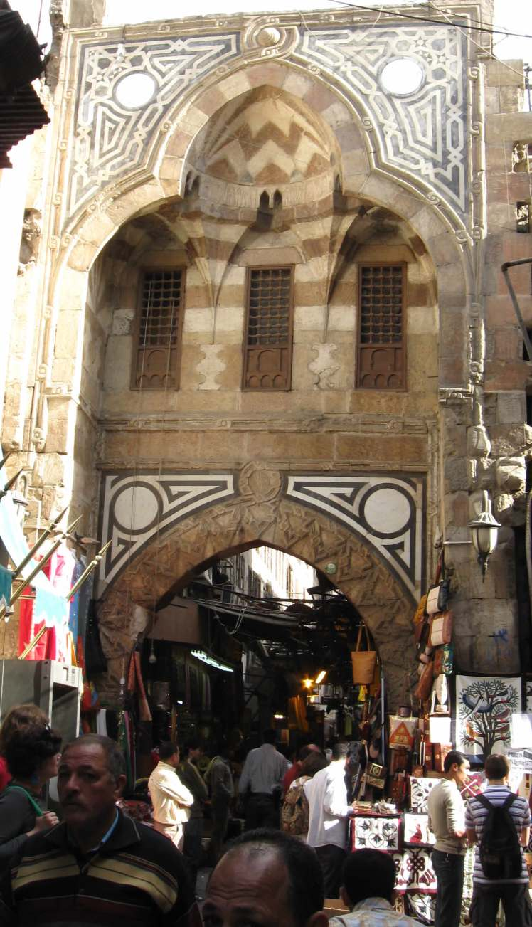 The crowded market at the Khan al-Khalili