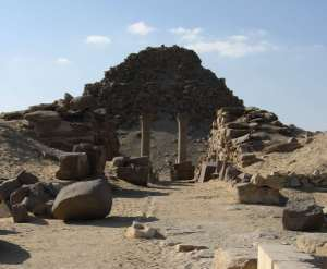The Pyramid and Temple of Sahure from the East