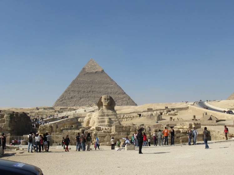 The Sphinx with the Late-Rising Tourist Hordes